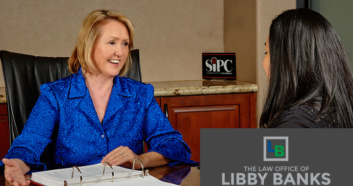 Libby Banks and Client office talks prince
