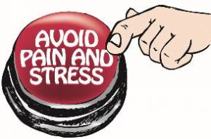 avoid pain and stress button